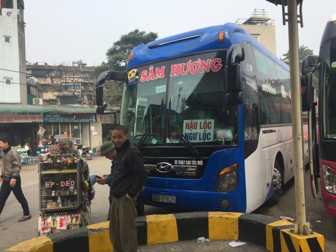 Lịch trình chạy và giá vé các xe khách chạy từ  Hậu Lộc đi Giáp Bát, Nước Ngầm, Mỹ Đình, Gia Lâm và ngược lại
