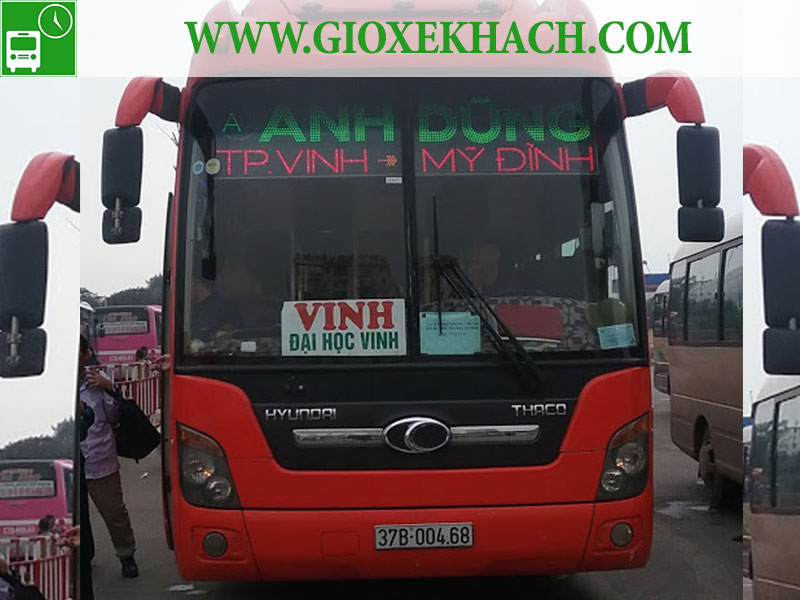 Giá vé, giờ chạy các xe từ thành phố Vinh đi Giáp Bát, Nước Ngầm, Mỹ Đình, Yên Nghĩa, Gia Lâm và ngược lại (P2)