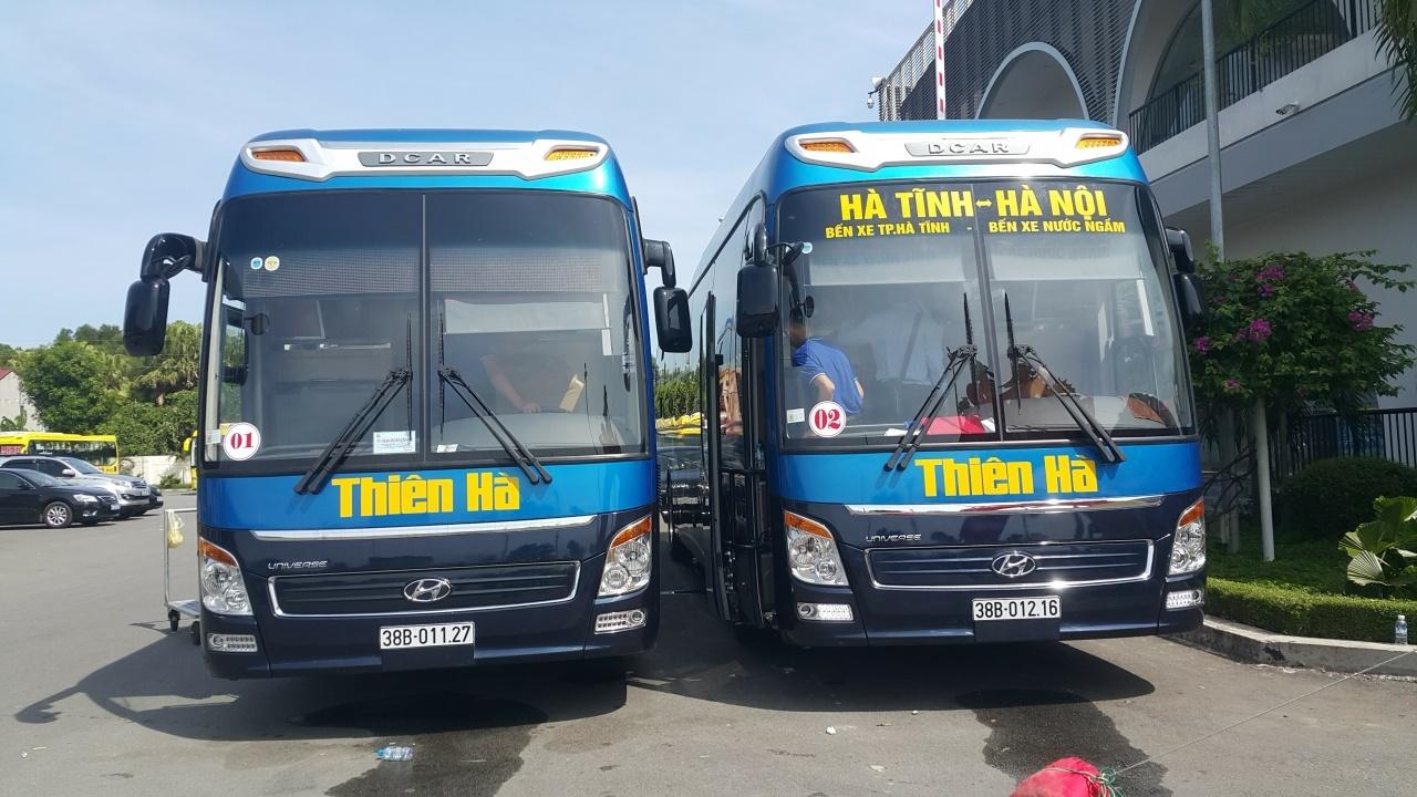 Lịch chạy các xe từ thành phố Hà Tĩnh đi Nước Ngầm, Giáp Bát, Mỹ Đình, Yên Nghĩa, Gia Lâm và ngược lại
