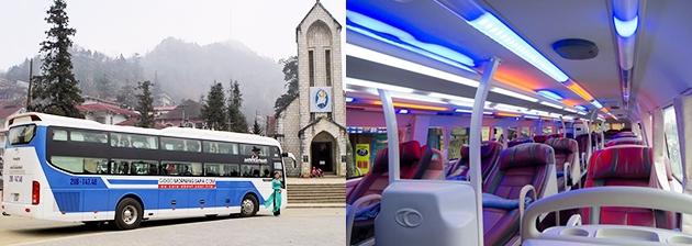 Xe khách đi Sapa từ Nội Bài thuận tiện nhất để đi du lịch cho du khách miền Nam